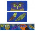 ZE 406 Owl Accessory Case w- ribbon