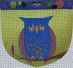 ZE 424 Owl Pouch w/ Ribbon