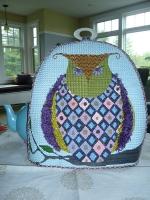 ZE 147 Argyle Owl Tea Cozy