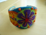 ZE 186 Purple Flower Cuff
