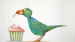 ZELR 106 Bird with Cupcake