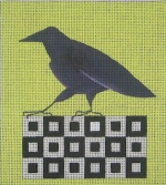ZE 357 Raven on a Quilt Block
