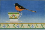 ZE 451 Goldfinch on a Tea Cup