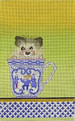 ZE 454 Porcupine in a Tea Cup