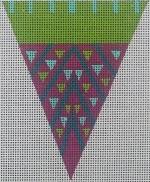 ZE 437 Purple Dot Triangle