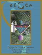 Orange Dot Triangle Ornament